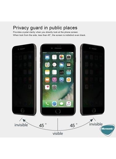 Microsonic Apple iPhone SE 2020 Privacy 5D Gizlilik Filtreli Cam Ekran Koruyucu Siyah